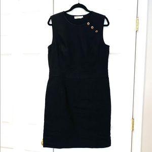 Tory Burch Black Sleeveless Short Linen Dress Sz L